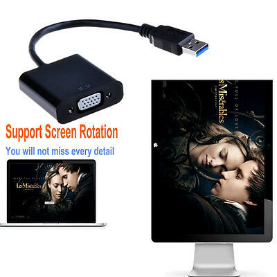 USB3.0 to VGA Multi-Display Adapter Converter External Video Graphic Card