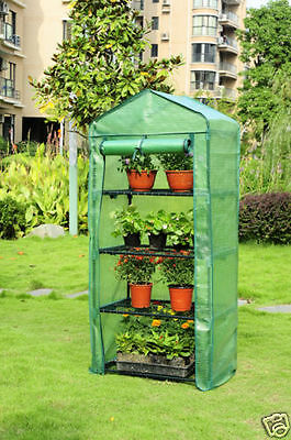 Mini GreenHouse w/Shelves, Premium quality Cover. Portable, Green House, New
