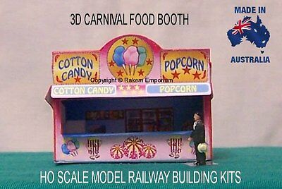HO Scale Carnival Cotton Candy Popcorn 3D Model Railway Building Kit - REPF1