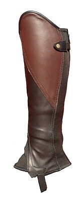 Black and Brown leather Comfort Classic Gaiters