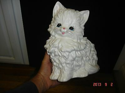 VINTAGE CAT PLANTER FIGURINE CATS CERAMIC POTTERY FIGURINES ANTIQUE KITTEN 1950s