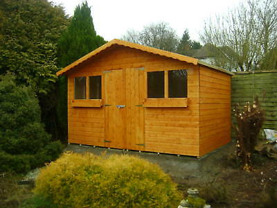 14ft x 8ft garden shed summer house with 1ft overhang for Garden shed 9x4