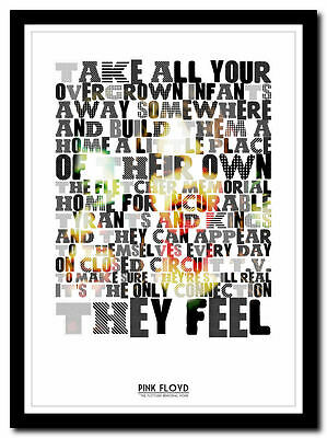 PINK FLOYD - Final Cut song lyric print in 4 sizes❤ typography art poster