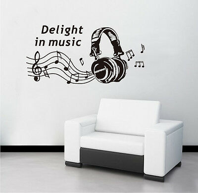 Wall Sticker Home Decor Removable Decoration Mural Decal Vinyl Music Black Note