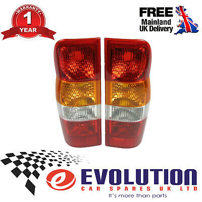 Ford Transit A Pair Of Rear Lamp Lights Lens Right & Left Mk6 2000 - 2006