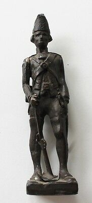 RT Brady Old Cast Iron Hessian Colonial Soldier Figurine Sculpture Signed