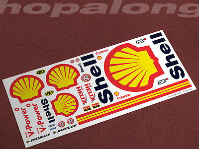 Scalextric/Slot Car 1/32 Waterslide Decals. ws039