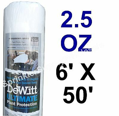DeWitt Ultimate 6'x50' 2.5oz Frost Freeze Cloth Blanket Thermal Plant Protection