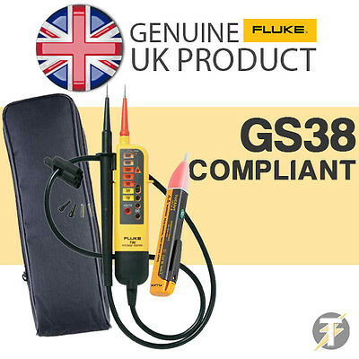 Fluke T90 Voltage & Continuity Tester KIT2P with 1AC Voltstick and LDMC1 Case