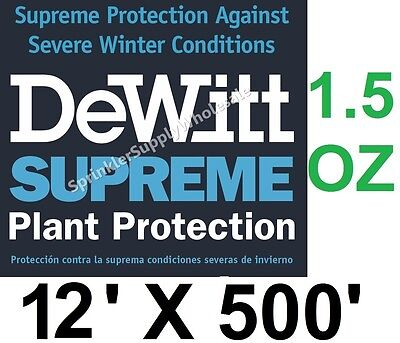 DeWitt Supreme 12-5 12 X 500' 1.5 oz Frost Cloth Freeze Plant Protection Blanket