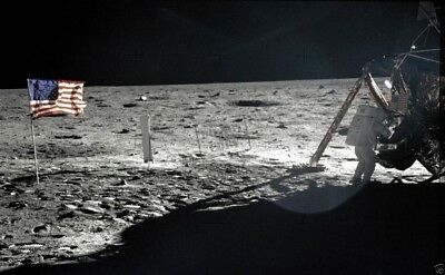 Astronaut Neil A. Armstrong on the Moon Moonwalk EVAs Apollo 11 8X12 PHOTOGRAPH