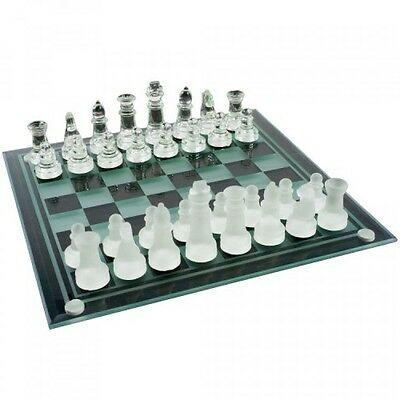 Elegant Glass Chess And Checker Board Set, New, Free Shipping