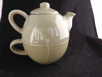 Individual Green Teapot and Cup Combination. Pier 1