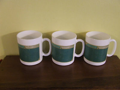Arcopal Luminarc France CORTINA MUGS Set of 3 EUC