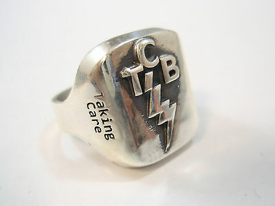 New Elvis Presley Tcb Ring Solid Sterling Silver 925 All Size Available pendant
