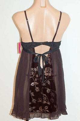 $82 Victoria's Secret  BETSEY JOHNSON Sexy Babydoll Nighty Gown  Panty Set M