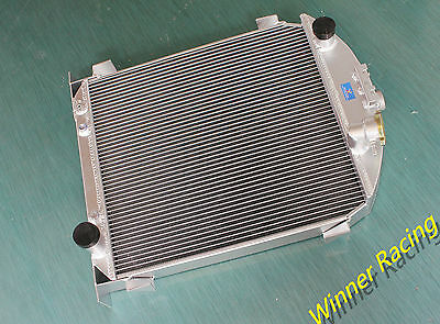 56MM 2 ROWS Aluminum Radiator Ford Model A w/Chevy 350 V8 engine A/T 1928-1929