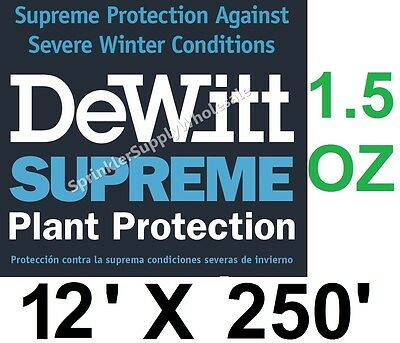 DeWitt Supreme 12' X 250' 1.5 oz Frost Cloth Freeze Blanket Supreme12-2 Fabric