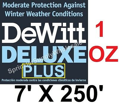 DeWitt Deluxe PLUS 7x250' 1oz Frost Protection Freeze Blanket DeluxePlus7-250