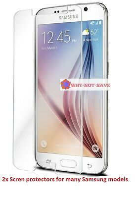 2 X screen film protector for ALL samsung galaxy models S S2 S3 S4 S5 LCD glass