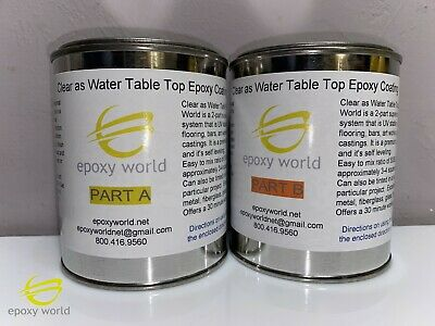 FASCO 39 CLEAR GLOSS EPOXY RESIN TABLE TOP COAT  2 parts, 1 quart kit