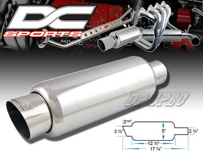 """Dc Sports 3.5"""" Stainless Steel Exhaust Performance Muffler For Acura Honda"""