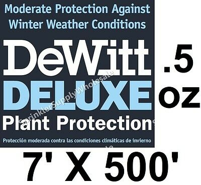 DeWitt Deluxe 7 'X 500' .5 oz Frost Freeze Cloth Germination Blanket Deluxe7