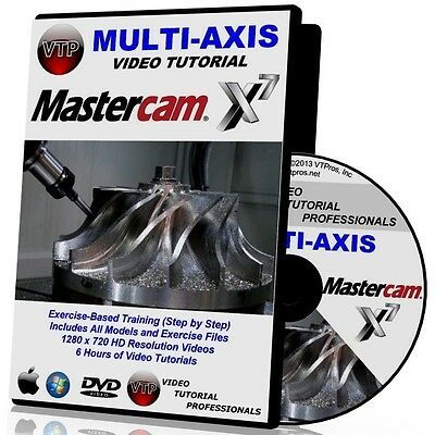 MASTERCAM X6-X7 MULTI-AXIS 4/5 AXIS Video Tutorial HD COURSES TRAINING 1 2 3 4 5
