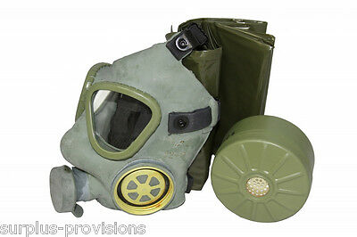 M-1 Gas Mask, NBC Filter and Canvas Carry Bag - Military Surplus