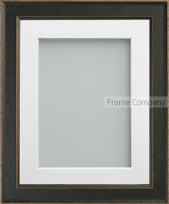 Frame Company Farrell Range Rustic Black Wooden Picture Photo Frames with Mount