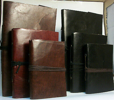 Leather Bound Notebook/journal/diary 100% Recycled Handmade Paper Fair Trade