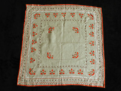 """vintage hand embroidered tablecloth  Dimensions  25""""/25""""   n4932"""