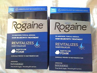 Men's ROGAINE Hair Regrowth Unscented Foam - 6 months supply
