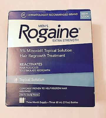 Rogaine Topical Solution Hair Regrowth Extra Strength (Mens) - 6 months supply