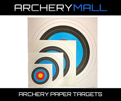 """10 Ring Archery 40cm /& 80cm Targets By Longbow 8 Pack, 40cm//approx 17/"""""""