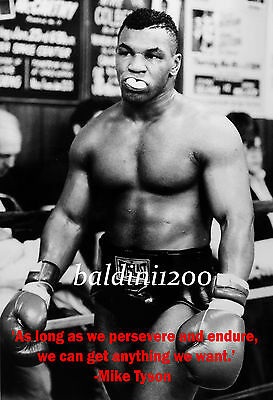 """iron"" Mike Tyson - Beautiful Poster Print With Quote - Looks Awesome Framed"