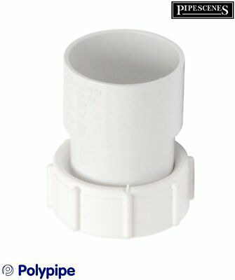 "Polypipe WS31 Threaded Female Waste Connector 1.25"" BSP to 32mm / 36mm"