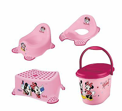 Disney Minni Maus 4er Set Kindertopf + WC Aufsatz + Hocker + Windeleimer