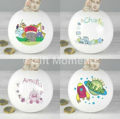 Personalised Childrens Name Money Boxes - Boys & Girls Birthday Present Baby