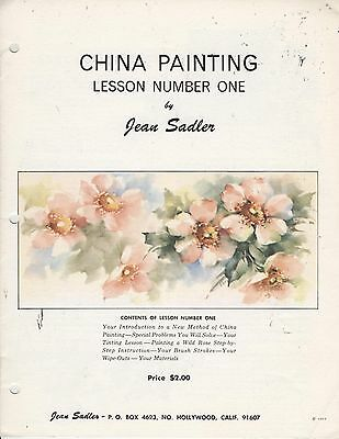 China Painting Lesson Number One by Jean Sadler  China Painting Study 1963