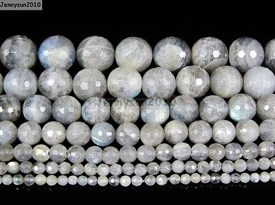 Natural Labradorite Gemstone Faceted Round Beads 16'' 2mm 4mm 6mm 8mm 10mm 12mm