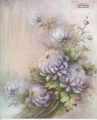 Chrysanthemums #7 by Sonie Ames  China Painting Study 1965