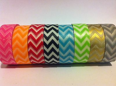 Washi Tape Chevrons Lots Of Colours 15Mm X 10 Mtrs Scrap Plan Craft Wrap