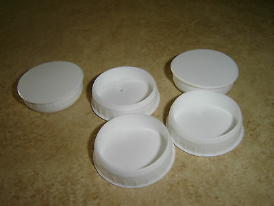 WHITE PLASTIC HINGE HOLE COVER CAPS FOR KITHCEN CABINET CUPBOARD DOORS 35mm