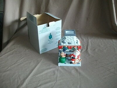 Paty Lite P0457 Fireside Santa Tealight Holder with Box Excellent Condition