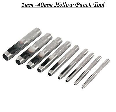 HEAVY DUTY HOLLOW PUNCH TOOL FOR LEATHER PLASTIC WOOD BELT HOLE PUNCH 1mm - 32mm