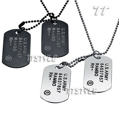TTstyle US Army Double DOG TAG Choose Colour
