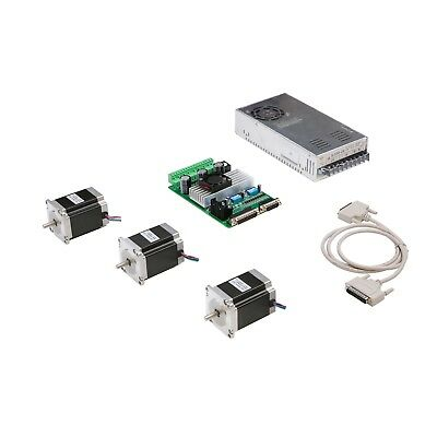3 Axis Nema 23 stepper motor 270 oz.in dual shaft&3-axis board TB6560 CNC Router