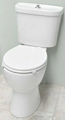 High Level (Comfort Raised Height) WC Toilet Pan, Cistern & Soft Close Seat