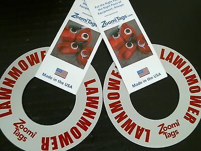 ZoomiTags Lawn Mower Fuel Can ID Tag *Free Shipping* 81161 2 Per Order